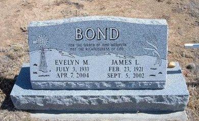 BOND, JAMES L - Baca County, Colorado | JAMES L BOND - Colorado Gravestone Photos