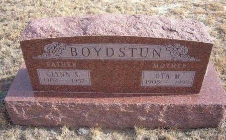 BOYDSTUN, OTA M - Baca County, Colorado | OTA M BOYDSTUN - Colorado Gravestone Photos