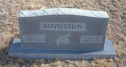 BOYDSTUN, J T - Baca County, Colorado | J T BOYDSTUN - Colorado Gravestone Photos