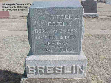 BRESLIN, PATRICK - Baca County, Colorado | PATRICK BRESLIN - Colorado Gravestone Photos