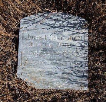 BROGDON, JOHN F - Baca County, Colorado | JOHN F BROGDON - Colorado Gravestone Photos