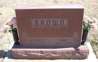 BROWN, FLOSSIE EMERALD - Baca County, Colorado | FLOSSIE EMERALD BROWN - Colorado Gravestone Photos