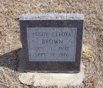 BROWN, PEGGY CLEOTA - Baca County, Colorado | PEGGY CLEOTA BROWN - Colorado Gravestone Photos