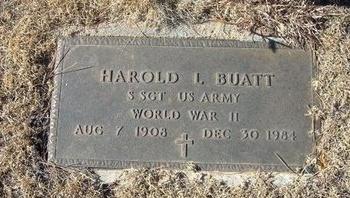 BUATT (VETERAN WWII), HAROLD LEE - Baca County, Colorado | HAROLD LEE BUATT (VETERAN WWII) - Colorado Gravestone Photos