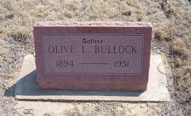 BULLOCK, OLIVE LEONA - Baca County, Colorado | OLIVE LEONA BULLOCK - Colorado Gravestone Photos