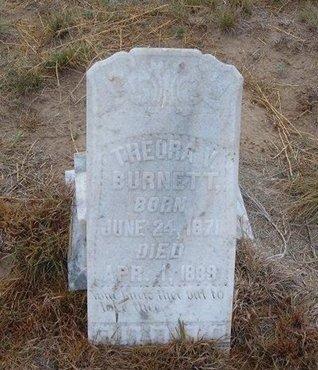 BURNETT, THEORA V - Baca County, Colorado | THEORA V BURNETT - Colorado Gravestone Photos