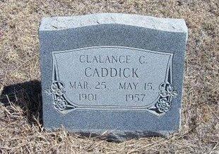 CADDICK, CLALANCE C - Baca County, Colorado   CLALANCE C CADDICK - Colorado Gravestone Photos