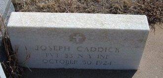 CADDICK (VETERAN UNION), JOSEPH - Baca County, Colorado | JOSEPH CADDICK (VETERAN UNION) - Colorado Gravestone Photos