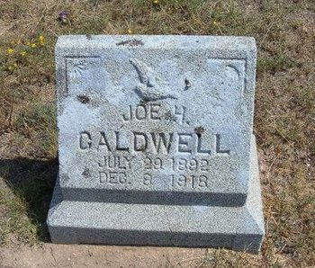 CALDWELL, JOE H - Baca County, Colorado | JOE H CALDWELL - Colorado Gravestone Photos