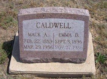 CALDWELL, EMMA D - Baca County, Colorado | EMMA D CALDWELL - Colorado Gravestone Photos