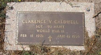 CALDWELL (VETERAN WWII), CLARENCE V - Baca County, Colorado | CLARENCE V CALDWELL (VETERAN WWII) - Colorado Gravestone Photos