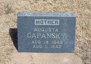 CAPANSKY, AUGUSTA - Baca County, Colorado | AUGUSTA CAPANSKY - Colorado Gravestone Photos