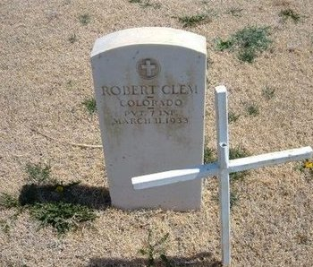 CLEM (VETERAN), ROBERT - Baca County, Colorado   ROBERT CLEM (VETERAN) - Colorado Gravestone Photos