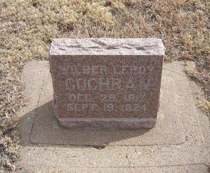 COCHRAN, WILBER LEROY - Baca County, Colorado | WILBER LEROY COCHRAN - Colorado Gravestone Photos