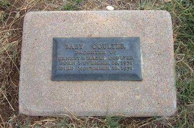 COULTER, BABY - Baca County, Colorado | BABY COULTER - Colorado Gravestone Photos