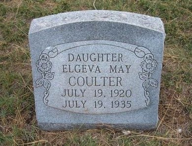 COULTER, ELGEVA MAY - Baca County, Colorado | ELGEVA MAY COULTER - Colorado Gravestone Photos