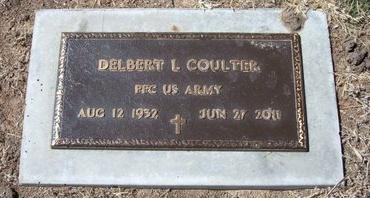 COULTER (VETERAN), DELBERT L - Baca County, Colorado | DELBERT L COULTER (VETERAN) - Colorado Gravestone Photos