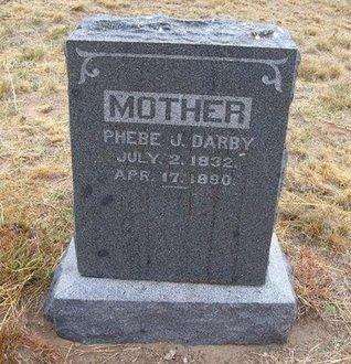 DARBY, PHEBE J - Baca County, Colorado   PHEBE J DARBY - Colorado Gravestone Photos