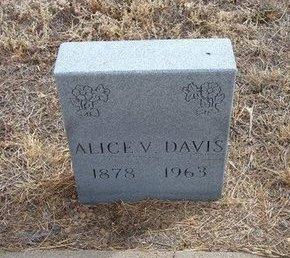 ALLEN DAVIS, ALICE VIENNA - Baca County, Colorado | ALICE VIENNA ALLEN DAVIS - Colorado Gravestone Photos