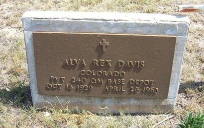 DAVIS (VETERAN), ALVA REX - Baca County, Colorado | ALVA REX DAVIS (VETERAN) - Colorado Gravestone Photos