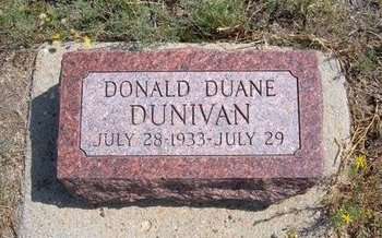 DUNIVAN, DONALD DUANE - Baca County, Colorado | DONALD DUANE DUNIVAN - Colorado Gravestone Photos