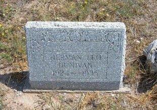 DUNIVAN, HERMAN LEO - Baca County, Colorado   HERMAN LEO DUNIVAN - Colorado Gravestone Photos