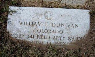 DUNIVAN (VETERAN), WILLIAM E - Baca County, Colorado | WILLIAM E DUNIVAN (VETERAN) - Colorado Gravestone Photos