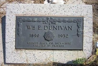 DUNIVAN, WILLIAM E - Baca County, Colorado | WILLIAM E DUNIVAN - Colorado Gravestone Photos