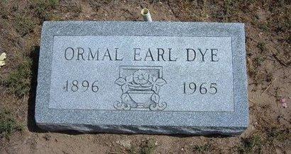 DYE, ORMAL EARL - Baca County, Colorado   ORMAL EARL DYE - Colorado Gravestone Photos