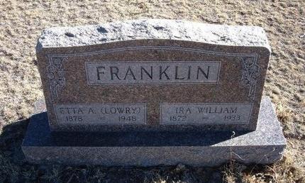 ABBOTT FRANKLIN, ETTA ARMINTA LOWRY - Baca County, Colorado   ETTA ARMINTA LOWRY ABBOTT FRANKLIN - Colorado Gravestone Photos