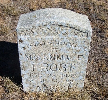 FROST, EMMA E - Baca County, Colorado | EMMA E FROST - Colorado Gravestone Photos