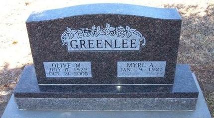 GREENLEE, OLIVE M - Baca County, Colorado | OLIVE M GREENLEE - Colorado Gravestone Photos