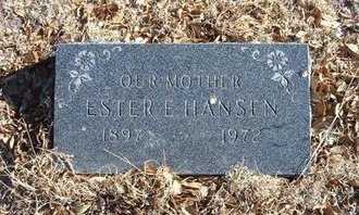 ABBOTT HANSEN, ESTHER E - Baca County, Colorado | ESTHER E ABBOTT HANSEN - Colorado Gravestone Photos