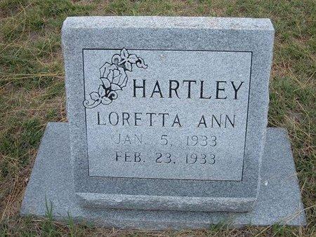 HARTLEY, LORETTA ANN - Baca County, Colorado | LORETTA ANN HARTLEY - Colorado Gravestone Photos