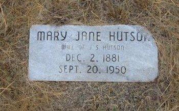 HUTSON, MARY JANE - Baca County, Colorado | MARY JANE HUTSON - Colorado Gravestone Photos