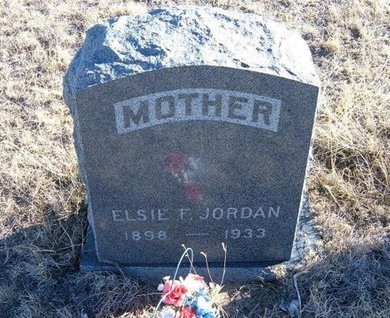 JORDAN, ELSIE F - Baca County, Colorado | ELSIE F JORDAN - Colorado Gravestone Photos