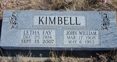 KIMBELL, JOHN WILLIAM - Baca County, Colorado | JOHN WILLIAM KIMBELL - Colorado Gravestone Photos