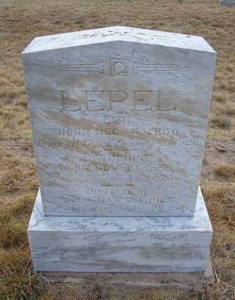 LEPEL, EMIL - Baca County, Colorado | EMIL LEPEL - Colorado Gravestone Photos