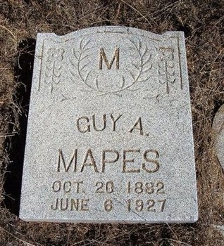MAPES, GUY A - Baca County, Colorado | GUY A MAPES - Colorado Gravestone Photos
