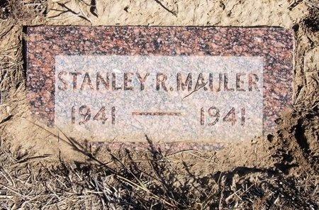 MAULER, STANLEY R - Baca County, Colorado | STANLEY R MAULER - Colorado Gravestone Photos