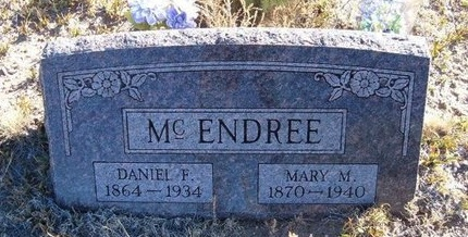 MCENDREE, DANIEL F - Baca County, Colorado | DANIEL F MCENDREE - Colorado Gravestone Photos