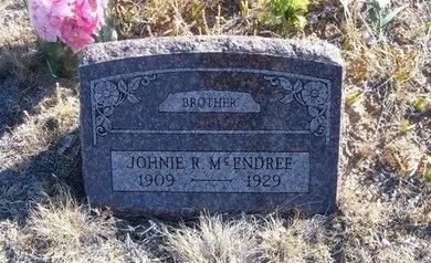 MCENDREE, JOHNIE R - Baca County, Colorado   JOHNIE R MCENDREE - Colorado Gravestone Photos