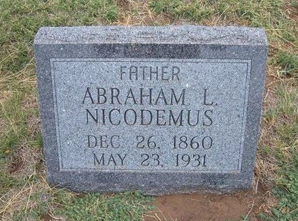 NICODEMUS, ABRAHAM LINCOLN - Baca County, Colorado | ABRAHAM LINCOLN NICODEMUS - Colorado Gravestone Photos