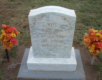 NICODEMUS, RUBY ANN - Baca County, Colorado | RUBY ANN NICODEMUS - Colorado Gravestone Photos