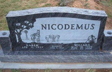 NICODEMUS, WILLARD ABRAHAM - Baca County, Colorado   WILLARD ABRAHAM NICODEMUS - Colorado Gravestone Photos