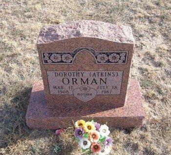 ATKINS ORMAN, DOROTHY - Baca County, Colorado | DOROTHY ATKINS ORMAN - Colorado Gravestone Photos