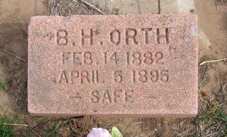 ORTH, B H - Baca County, Colorado   B H ORTH - Colorado Gravestone Photos