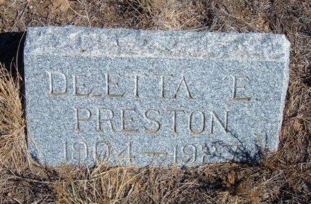PRESTON, DEETTA - Baca County, Colorado | DEETTA PRESTON - Colorado Gravestone Photos