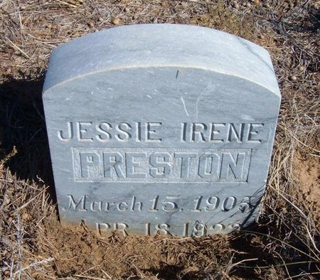 PRESTON, JESSIE IRENE - Baca County, Colorado | JESSIE IRENE PRESTON - Colorado Gravestone Photos