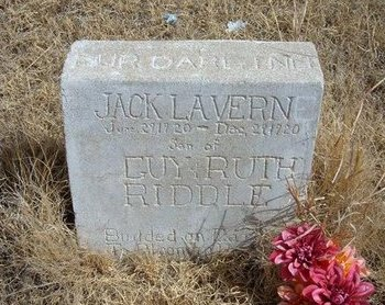 RIDDLE, JACK LAVERN - Baca County, Colorado | JACK LAVERN RIDDLE - Colorado Gravestone Photos